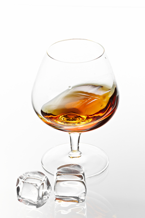 The glass of cognac