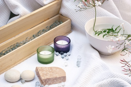 feng shui: spa composition with elements of feng shui