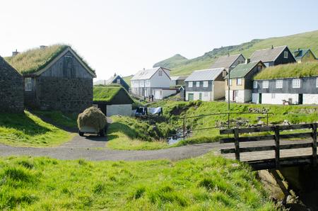 Mykines village, Faroe Islands Zdjęcie Seryjne - 78641878