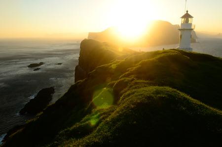 Old lighthouse on Faroe Islands Zdjęcie Seryjne - 78469702