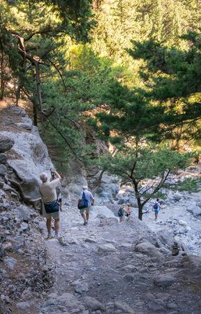 samaria: Samaria Gorge. Crete, Greece
