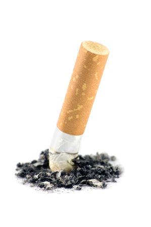 Cigarette butt macro, isolated on white Stock Photo - 4958717