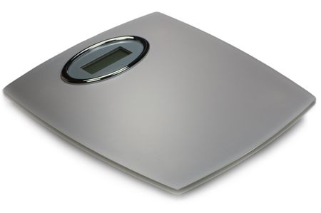 Digital Bathroom Scale, Isolated On White Stock Photo - 5512633