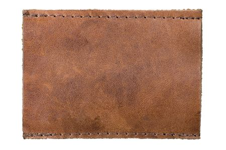 Blank leather label for your own text photo