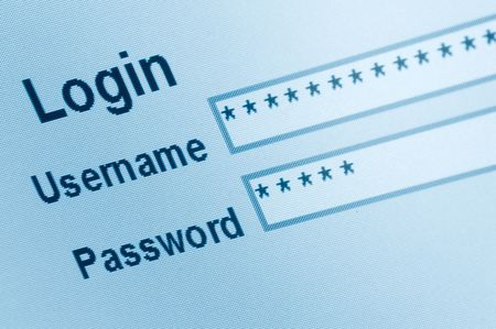 Website Login Screen Macro Capture Stock Photo - 5512657