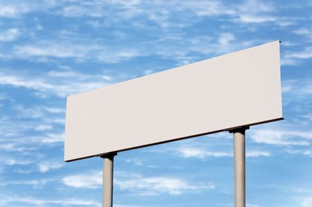 Blank road sign without frame against sky; simply put your text there Stock Photo - 5599282