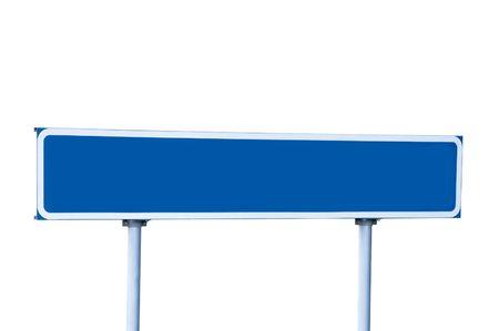 Blue Road Sign, aislado en blanco