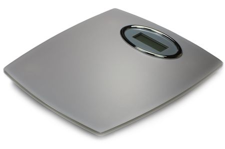 unfit: Digital Bathroom Scale, Isolated On White