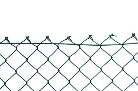 New wire security fence, isolated photo