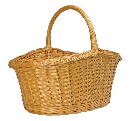 Half-Split Splint Willow Wicker Basket, Isolated Stock Photo - 5698737