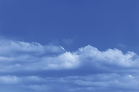 Blue Cloud and sky, useful as a background photo