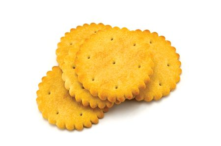 Round cracker stack, isolated on white Stock Photo - 5993989