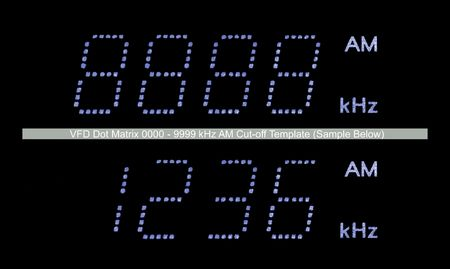 VFD Dot Matrix AM Radio Display Macro, Blue Stock Photo - 5994153