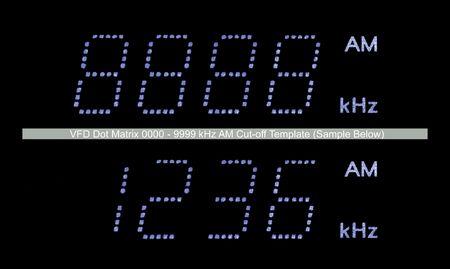 VFD Dot Matrix AM Radio Display Macro, Blue photo