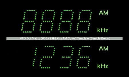 VFD Dot Matrix AM Radio Display Macro, Green Stock Photo - 5994054