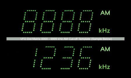 VFD Dot Matrix AM Radio Display Macro, Green Stock Photo - 5994054