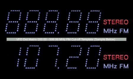 VFD Dot Matrix FM Radio Display Macro, Blue photo