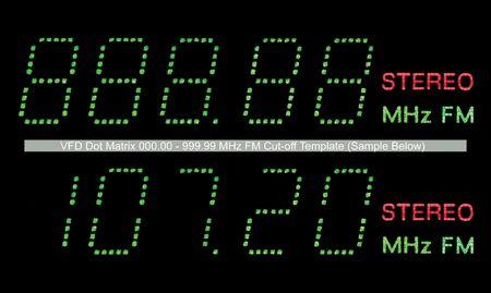 VFD Dot Matrix FM Radio Display Macro, Green photo