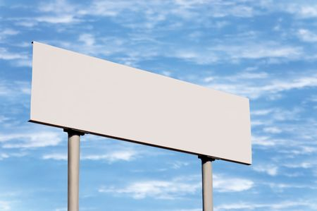 Blank road sign without frame against sky; simply put your text there Stock Photo - 5994015