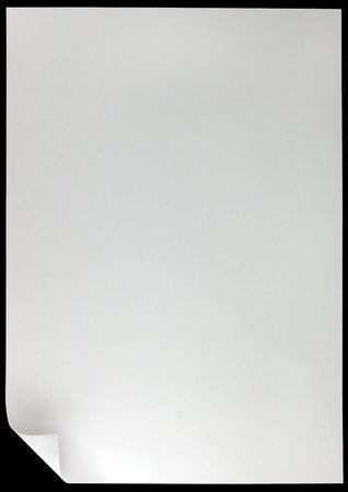 White Page Curl, isolated on black Stock Photo - 5994005