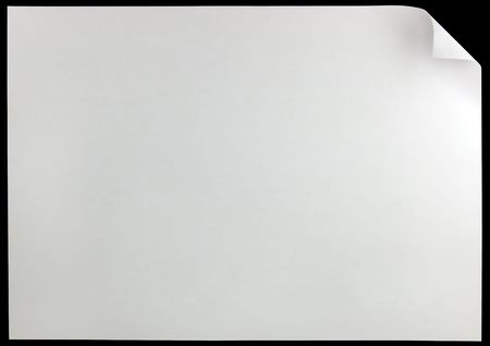 White Page Curl, isolated on black Stock Photo - 6038869