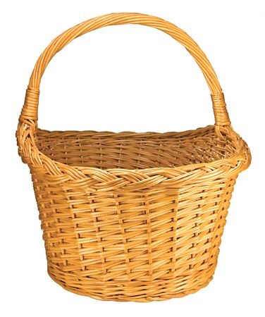 splint: Splint Willow Wicker Basket, Isolated On White