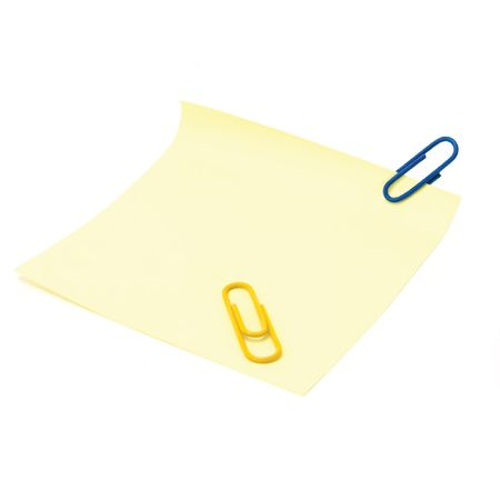 Blank Yellow To-Do List with a paperclip, isolated on white Stock Photo - 6038909