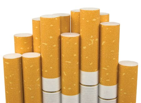 Macro Closeup Of Class A Filter Cigarettes, Isolated Stock Photo - 6345025