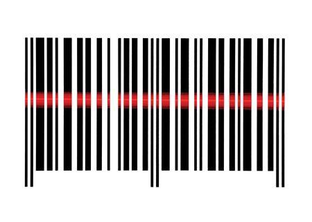 bar code reader: An�lisis de vac�os de macro de c�digo de barras detalle, aislados en blanco