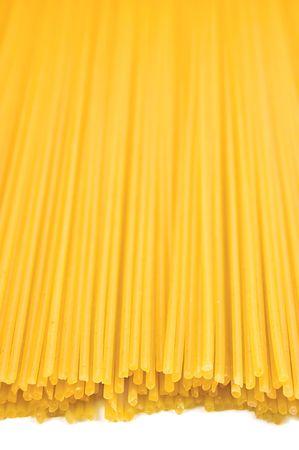 Traditional spaghetti pasta background, isolated, shallow DOF Stock Photo - 6552283