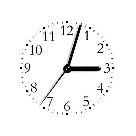 Blanco y negro reloj anal�gico rostro marcado lectura 3: 03 PM, macro aislado