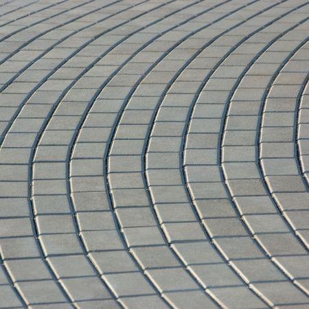 Cobblestone Pavement Texture, Isolated On White photo