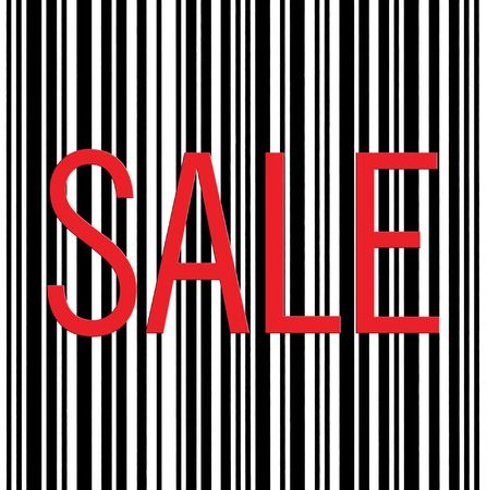Large Barcode Sale Text Macro Closeup, Isolated On White photo