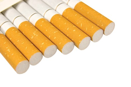 Macro Closeup Of Class A Filter Cigarettes, Isolated Stock Photo - 7816929