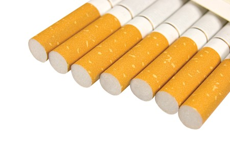 Macro Closeup Of Class A Filter Cigarettes, Isolated Stock Photo - 8004549