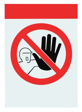 No access for unauthorised persons blank warning sign, isolated Stock Photo - 8004545