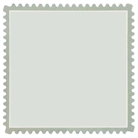 sello postal: Cuadrados en blanco de franqueo Stamp, luz macro verde p�lido, aislada