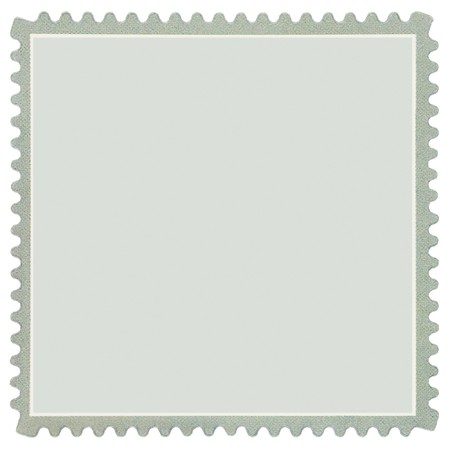 postage stamp: Square Blank Postage Stamp, Light Pale Green Macro, Isolated