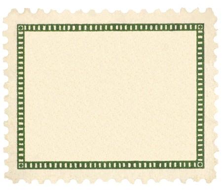 Blank Vintage Postage Stamp, Green Vignette Macro, Isolated Stock Photo - 8101394