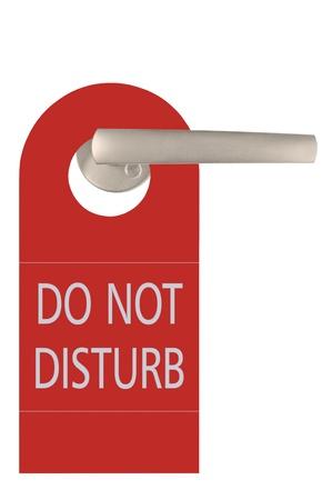 Gran rojo no molestar etiqueta y puerta asa, aislado