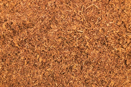 Cut Pipe Tobacco Texture Background, Macro Closeup photo