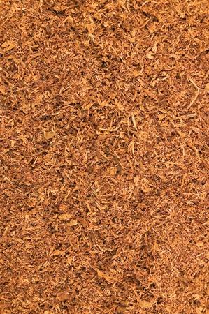 Cut Pipe Tobacco Texture Background, Macro Closeup Stock Photo