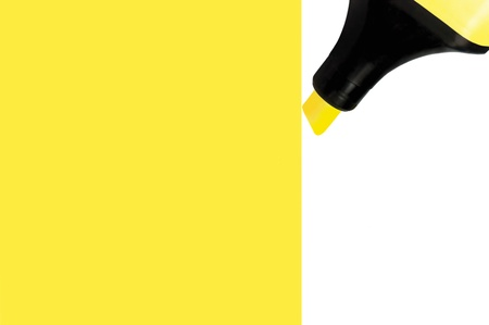 Yellow Marker painting large background, isolated perspective, macro closeup photo