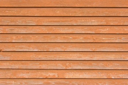 Natural old wood fence planks, wooden close board texture, overlapping light reddish brown horizontal closeboard terracotta background pattern Stock Photo - 9584302