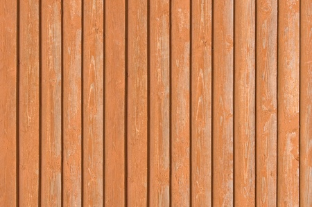 Natural old wood fence planks, wooden close board texture, overlapping light reddish brown closeboard terracotta background pattern Stock Photo - 9584305