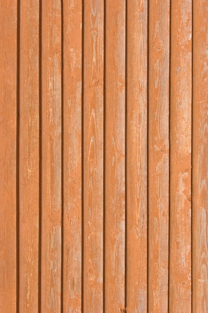 Natural old wood fence planks, wooden close board texture, overlapping light reddish brown closeboard terracotta background pattern Stock Photo - 9584304
