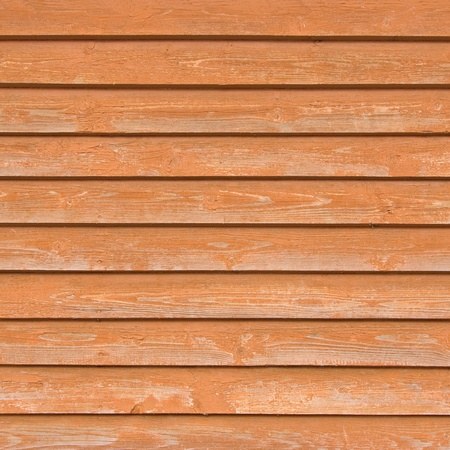 Natural old wood fence planks, wooden close board texture, overlapping light reddish brown closeboard terracotta background pattern photo