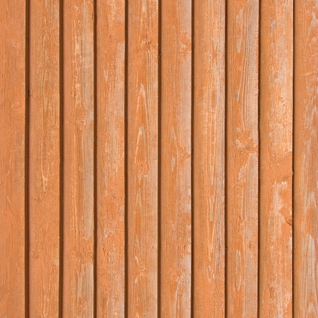 Natural old wood fence planks, wooden close board texture, overlapping light reddish brown closeboard terracotta background pattern Stock Photo - 9705401