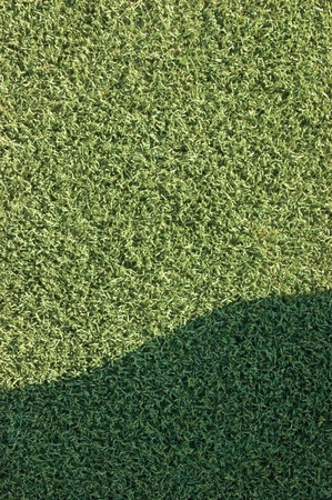 false shamrock: Artificial grass texture background with a shade Stock Photo