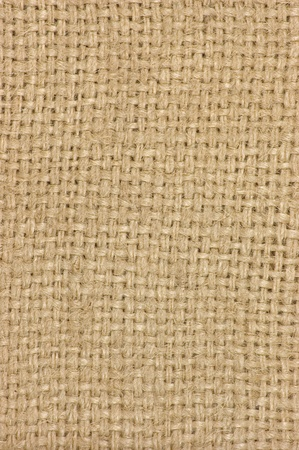 Light natural textured burlap sackcloth hessian texture coffee sack, light country sacking canvas, macro background photo